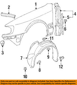 audi oem 92 94 s4 front fender quarter panel right 4a0821106b ebay rh ebay com Audi A4 1.8T Engine Diagram 2001 Audi A4 Engine Diagram
