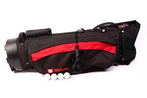WILSON-Golftasche-m-Staender-4-Faecher-H-85-5-cm-Golf-Bag-Tragetasche-rot-schwarz