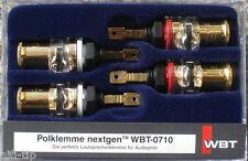 WBT 0710 Cu nextgen 4 Stück Polklemme  Lautsprecherklemme NEU in OVP