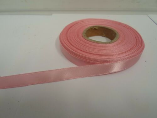 3mm 7mm 10mm 15mm 25mm 38mm 50mm LIGHT PINK Satin Ribbon double sided roll UK