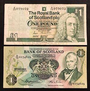 SCOTLAND 1 POUND 1987 P 346 UNC