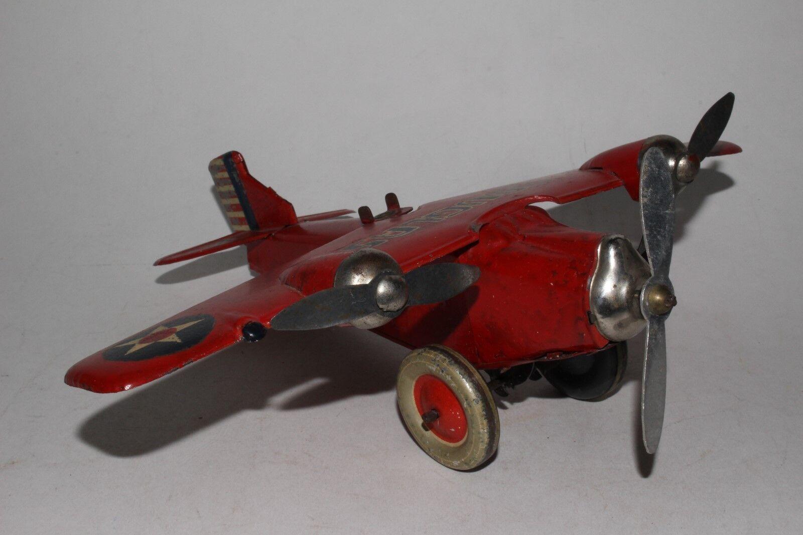 Petite Enfance Fabriqué en Japon à Remonter Tri-Moteur Douglas Boîte Avion ,