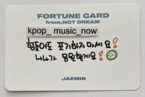 Jaemin OFFICIAL Rare FORTUNE SCRATCH Message PHOTOCARD NCT DREAM SHOW Superm 127