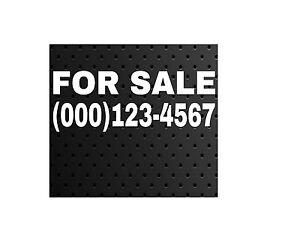 for sale phone number vinyl decal sticker car truck suv window sign ebay. Black Bedroom Furniture Sets. Home Design Ideas