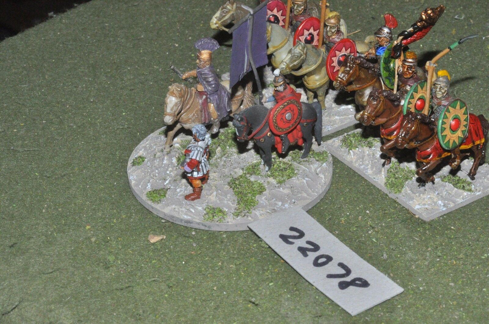 25mm roman era   roman - late general & escort 9 figs command - command (22078)