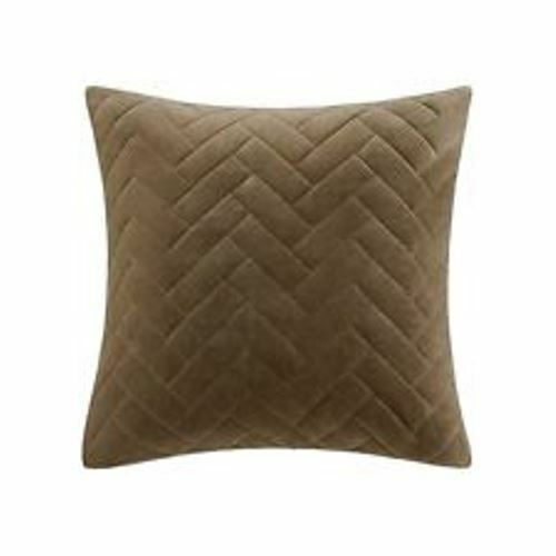 Metropolitan Home Wright Cotton Euro Sham TAUPE 26 X 26
