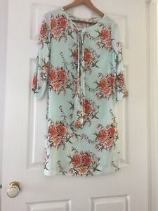 Womens-LEONA-EDMISTON-RUBY-Dress-1-Size-8-Floral-New-Without-Tags