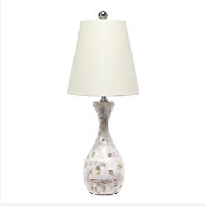 Elegant Designs Seashell Mosaic Look Table Lamp
