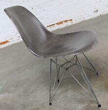 Vintage Mid Century Modern Herman Miller Eames DSR Chair Elephant Hide Grey circ