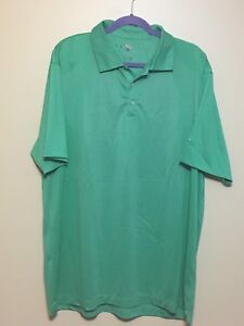 Nike-Dri-Fit-Mens-Golf-Polo-Shirt-Sz-2XL-XXL-Green-Polyester-EUC