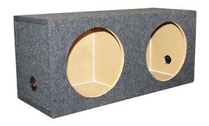 "NEW Q-Power QSMBASS15 Dual 15/"" Carpet Subwoofer Sub Box Sealed Speaker Enclosure"