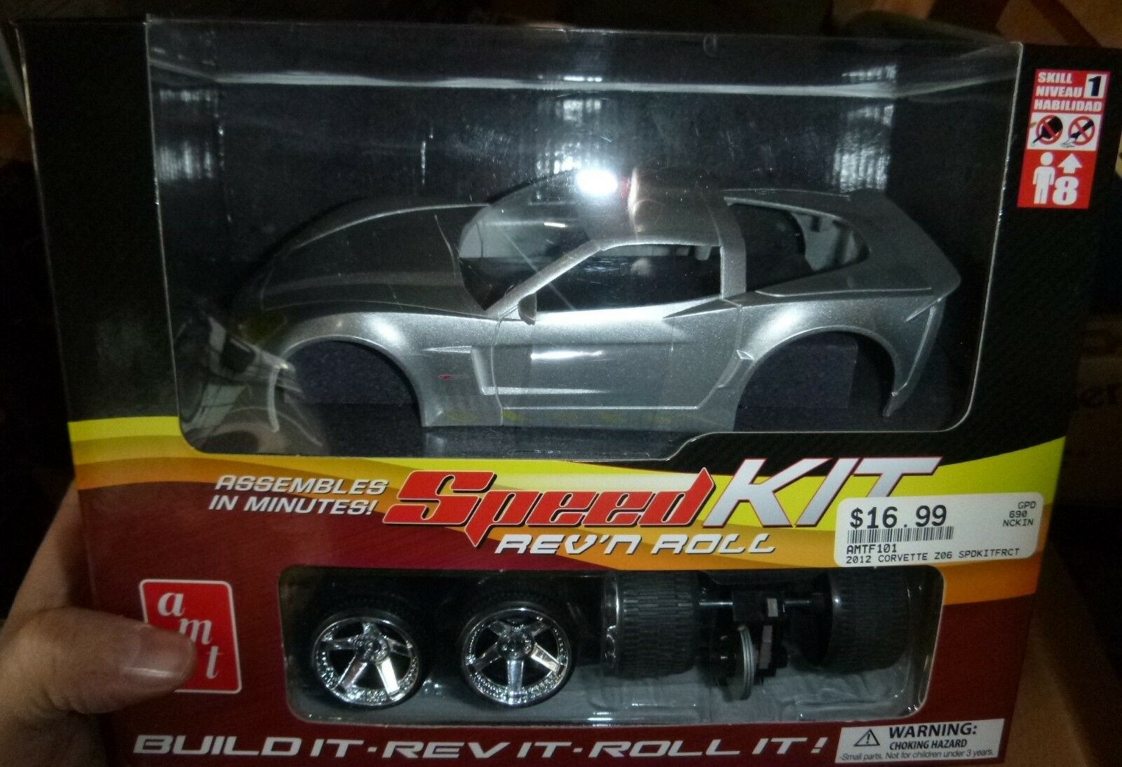AMT 101 Corvette Speed Set Rev n roll friction performance 1 20 Model Car Mountain