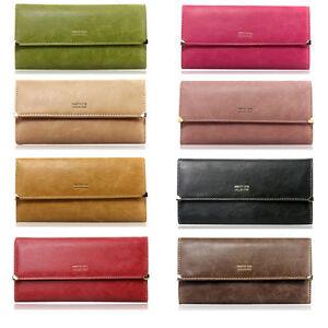 Brand-New-Matte-PU-Leather-Women-039-s-Wallet-Ladies-Card-Purse-Clutch-Handbag-Bag