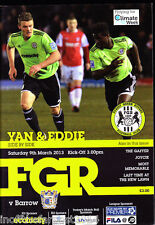 2012/13 FOREST GREEN ROVERS V BARROW 09-03-2013 Blue Square Premier