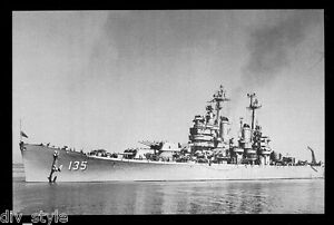 USS-Los-Angeles-CA-135-postcard-US-Navy-ship-Heavy-Cruiser