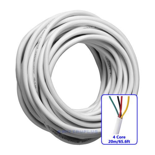 20m//65.6ft 4 Core 0.3mm²  Flexible Copper Cable for Video Door Entry Intercom