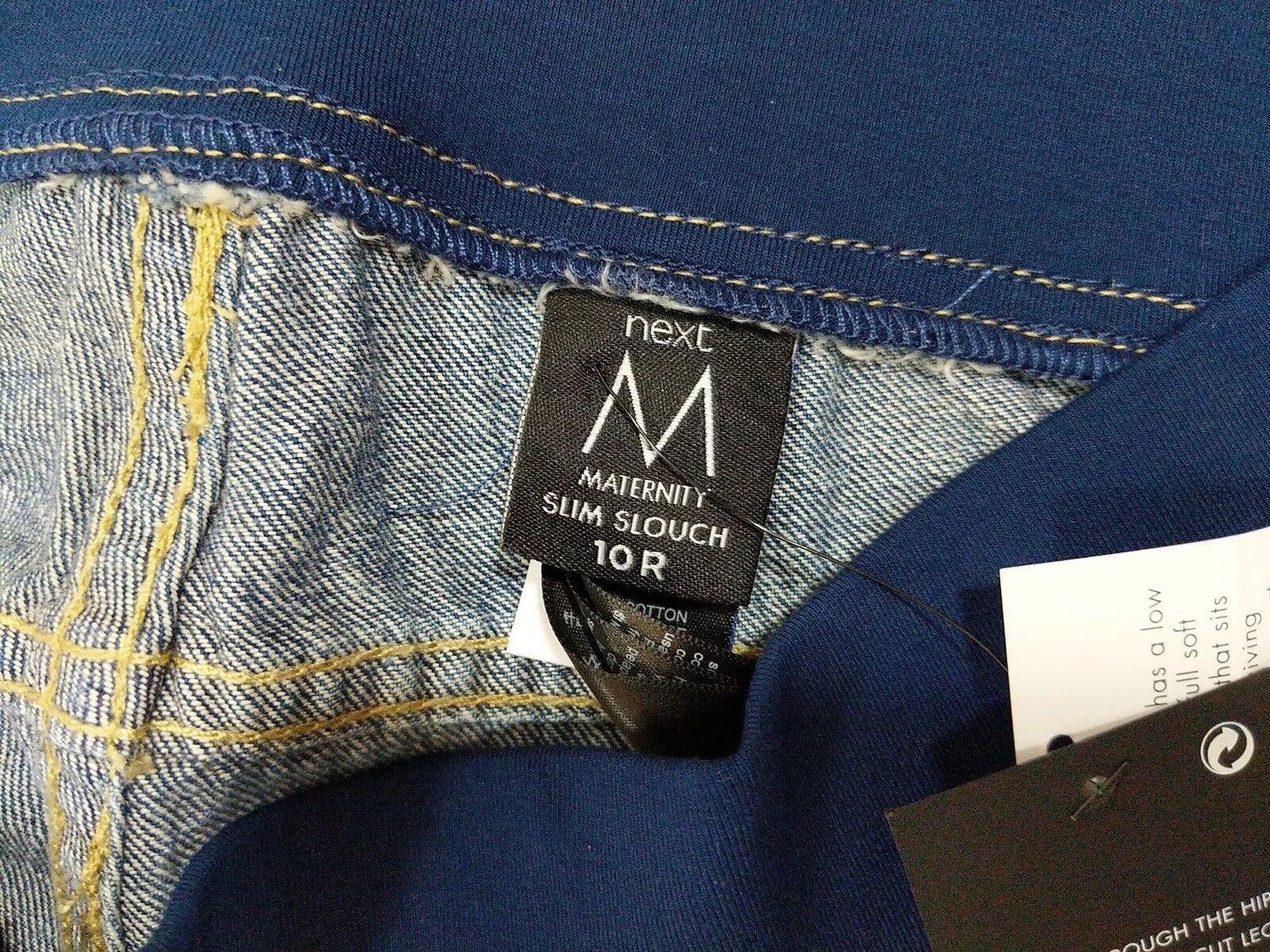 NEXT Maternity Slim Slouch Stretch Cropped Jeans Neuf W32 10R W32 Neuf L26 448922