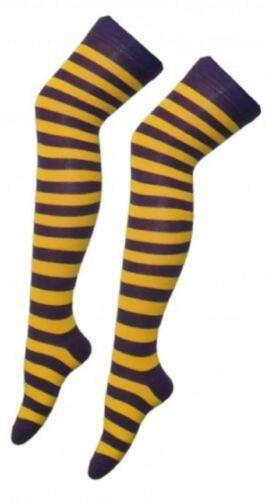 Women Over The Knee Stripe Socks Ladies Long High Thigh Stripe Socks Fancy Dress