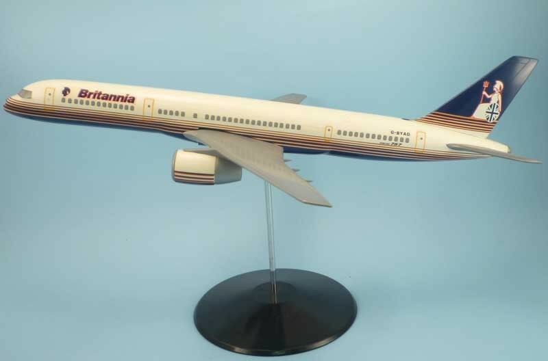 punto de venta BRITANNIA AIRWAYS B757-200 G-BYAD 1 100 CESANA airplane model -slightly -slightly -slightly amarilloed  el precio más bajo