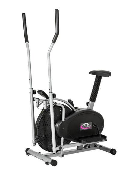 TecTake Crosstrainer mit Trainingscomputer Fitness & Jogging Schwarz günstig kaufen