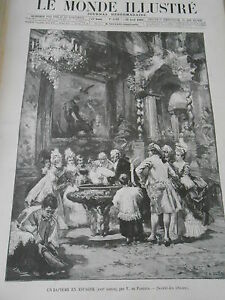Discret Gravure 1899 Un Baptême En Espagne ( Xviiè Siècle ) Avoir Une Longue Position Historique