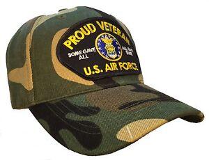 0d94614cc59ce Proud Veteran Hat Camo Ball Cap U.S. Air Force Veteran USAF Vet