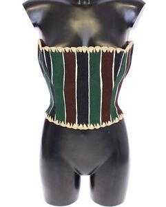 Gabbana Intrecciato Dolce Etichetta A Nuova Con Rafia Verde Righe Corsetto g4qIwtTw