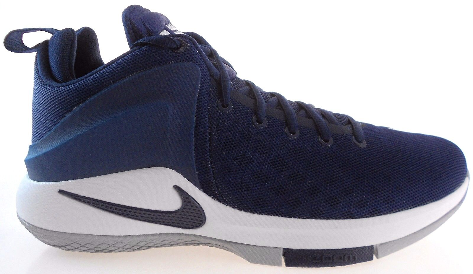 the latest 51b40 e4ecd NIKE ZOOM WITNESS MEN S NAVY GREY BASKETBALL SHOES SHOES SHOES c0ac02