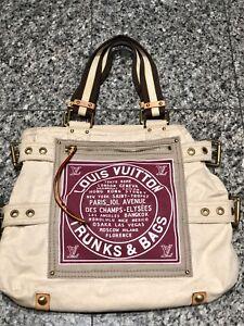 """7b237f1d4fb3 Louis Vuitton LV """"Trunks   Bags"""" Canvas Globe MM Shopper Tote Bag"""