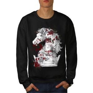 Blood Negro Nuevo Horror King Sudadera Hombres Horse 8q7FAwc