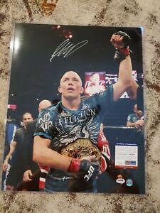 Georges St. Pierre Signed UFC 16x20 Photo Autographed PSA/DNA COA