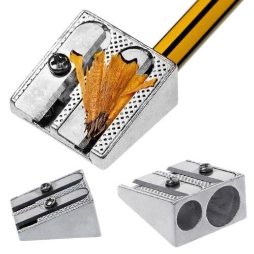 Safety Sharpener Drawing Art 1pc Metal Bevelled Pencil Sharpener Double Hole