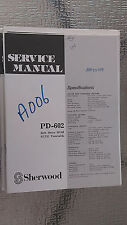 sherwood pd-602 service manual repair book schematic turntable record player