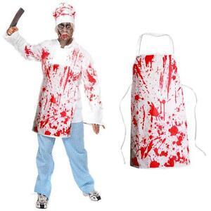 tablier de boucher d guisement zombie halloween mort vivant monstre sang ebay. Black Bedroom Furniture Sets. Home Design Ideas