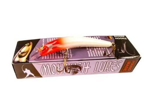 Handmade Wobbler Monarch Nemo 7 aus Abashi Holz flachlaufend schwimmend