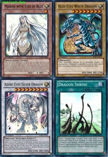 White Dragon Azure-Eyes Silver Dragon 1st 4-Foils: Maiden with Eyes of Blue