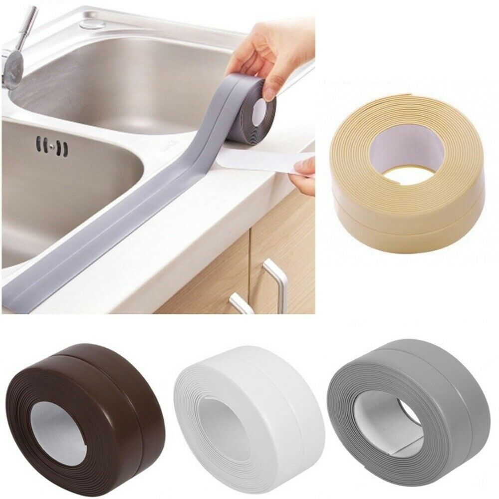 3.2m Caulk Strip Bath Self-Adhesive Caulk Tape Kitchen Edge Wall Sink Sealant