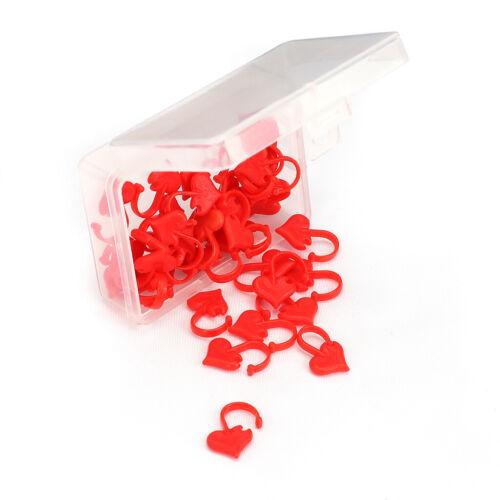 50 Stück Pink Assorted Heart Sicherheitsnadeln Herzförmige Stifte