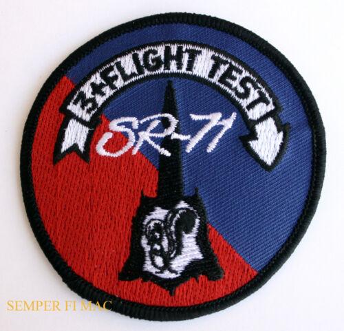 SR-71 BLACK BIRD FLIGHT TEST MACH 3  AFB HAT PATCH SKUNK WORKS US AIR FORCE WOW