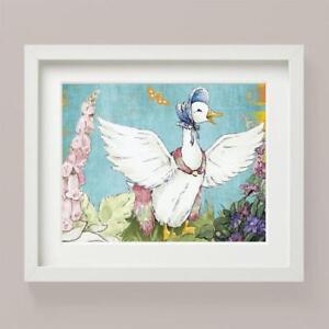 Decor Wall Art Unframed A4 Nursery Prints Beatrix Jemima Puddle Duck Set of 2