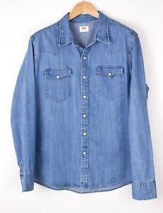 LEVI'S STRAUSS & CO Hommes Slim Décontracté Jeans Chemise Taille L BAZ462