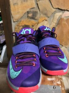 81812d058c6 Nike KD7 Lightning 534 Size 8.5 Kevin Durant Purple Teal Basketball ...