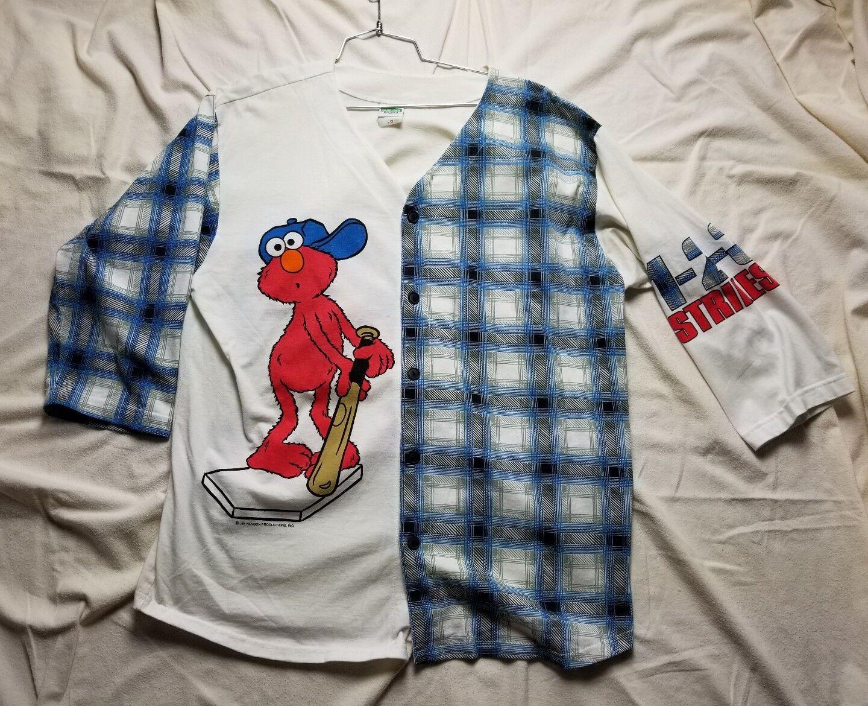 VINTAGE Sesame Street x Elmo Baller Hustler SHIRT Rap Hip Large