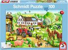 Schmidt spiele 56003 - fröhlicher Bauernhof 100 teile