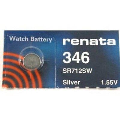 Gelernt Renata Single Watch Battery Swiss Made Renata 346 Or Sr712sw 1.55v Fast Shipping BerüHmt FüR AusgewäHlte Materialien, Neuartige Designs, Herrliche Farben Und Exquisite Verarbeitung