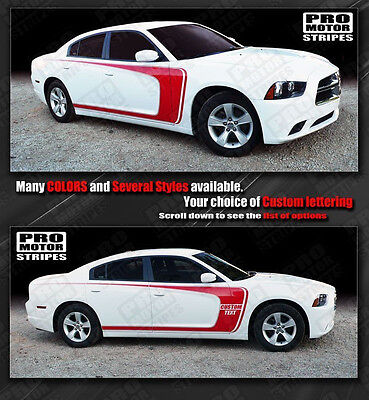 Dodge Charger Side Scallop Wide C-Stripes Decals 2011 2012 2013 2014 Pro Motor