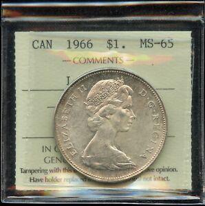 1966-Canada-Silver-Dollar-ICCS-MS-65-Large-Beads-Cert-XVZ-972