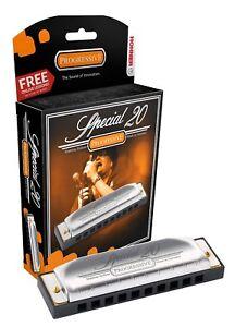 Distingué Hohner 560pbx-c Special 20 Progressive Harmonica Avec Free Leçons-key Of C-afficher Le Titre D'origine