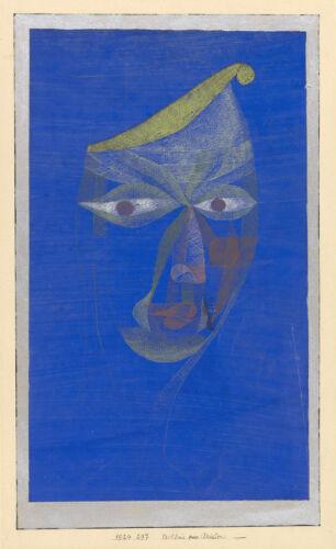 Fine Art Print Portrait of an Oriental Paul Klee Reproduction Modern Art