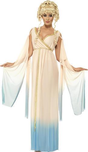 Donna Dea Greca Principessa Travestimenti Costume Completo Toga Party Romano Smiffy/'